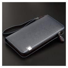 цена на Clutch Bag Men's Long Wallet Multi-Function Creative Wallet Men's Leather Hand Grab Bag Tide Wallet Men