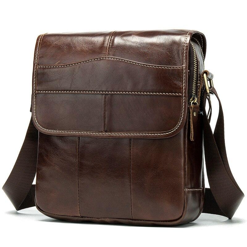 Vintage sacs à bandoulière pour hommes en cuir véritable mallette d'affaires hommes sac à bandoulière sacoche sac Messenger sacs Bolso Hombre