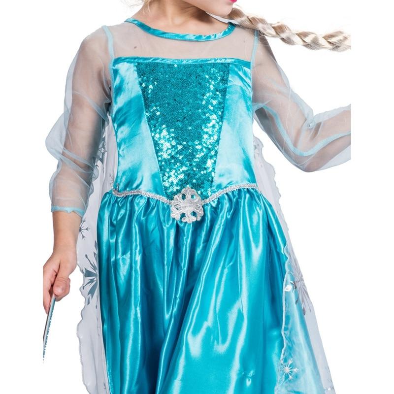KIDS GIRLS ICE QUEEN COSTUME FILM MOVIE SNOW PRINCESS FANCY DRESS CHRISTMAS GIFT