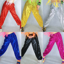 7Color Adult Sequin Pant Costumes Jazz Dance Wear Rhinestone