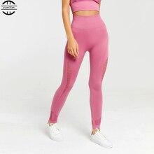 2019 Women High Waist Yoga Pants elastic yoga leggings push up Seamless Leggings femme Fitness Sports Running