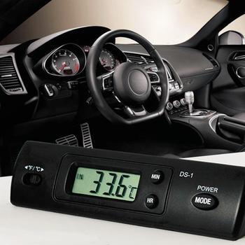 8a233b8c123b Auto pantalla LCD reloj del coche Termómetro Electrónico Digital Casual  reloj DC1.5V