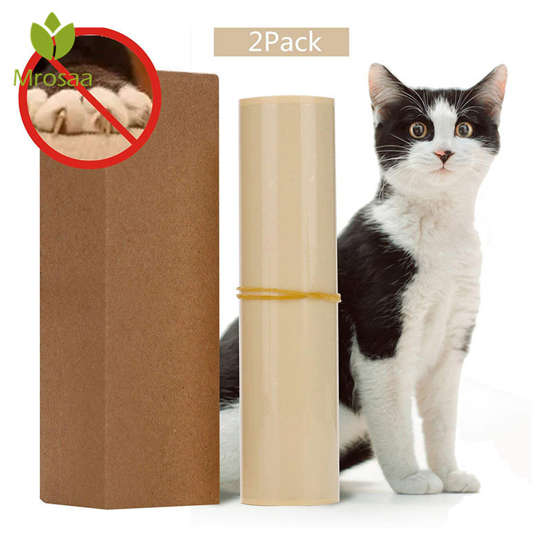 Mrosaa 2 Pcs Cat Scratching Adhesive Corner Guard No Pins Needed For Cat Scratchers Furniture