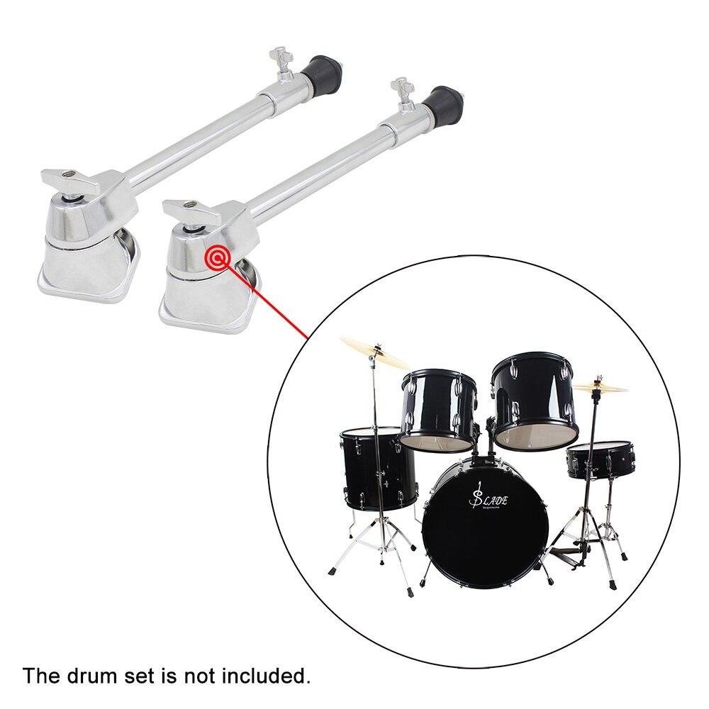 Een Paar 2 Stuks Professionele Drum Been Bass Drum Spurs Benen Met Antislip Rubber Voeten Percussie Instrument Accessoires Bekwame Productie