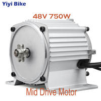 Electric Motors Mid Drive Motor 48V 750W Gear DC Brushless Engine Motor Scooter Electric Bicycles Motorcycle bicicleta electrica