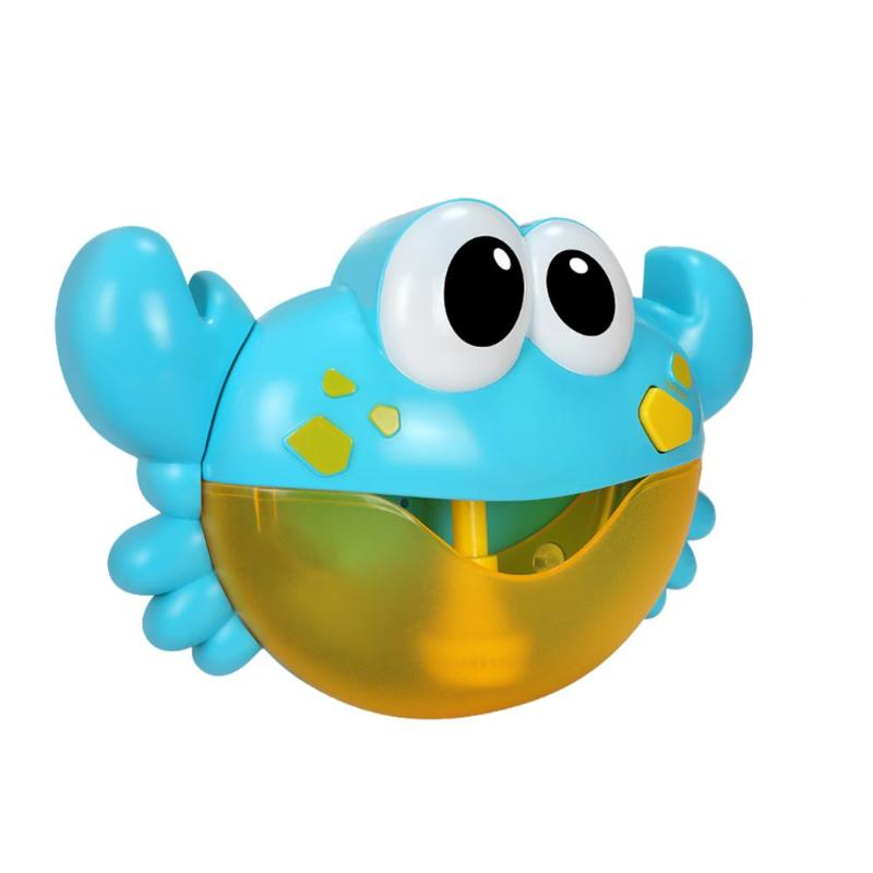 Music Bubbles Maker Machine Baby Bath Toy Child Articles Bathroom Decoration Brand New Crab Modeling Bathtub Swimming Pool Toys Bath Toy Classic Toys