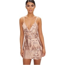 MUXU gold sequin dress sexy bodycon party night vestidos clothes glitter short dresssee through mini frocks backless