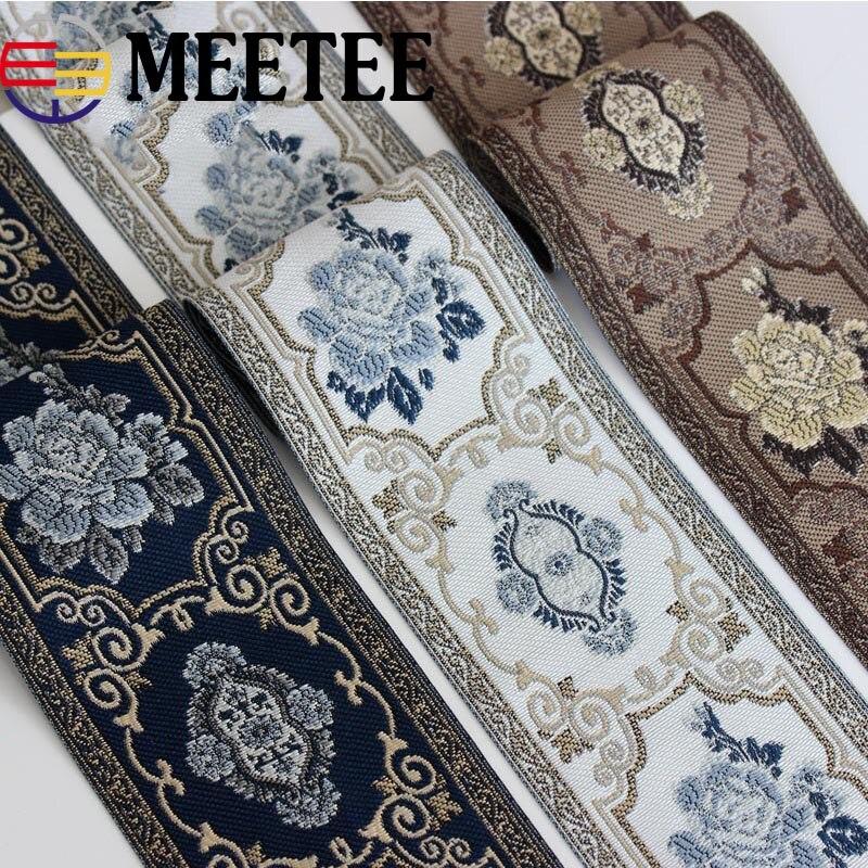 2 ярда 9 см жаккардовые ленты с вышивкой, ленты для занавесок, декоративные кружевные ленты для украшения одежды, домашний текстиль, аксессуары|Тесьма|   - AliExpress