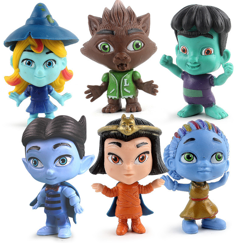 Action-Figure-Set Birthday-Gift Super-Monsters Cartoon Model-Dolls Toys Collction Boys