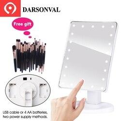 Светодиодный Профессиональный зеркала с подсветкой для макияжа с регулируемая светодиодная лампа 16/22 Сенсорный экран зеркала для Красота ...