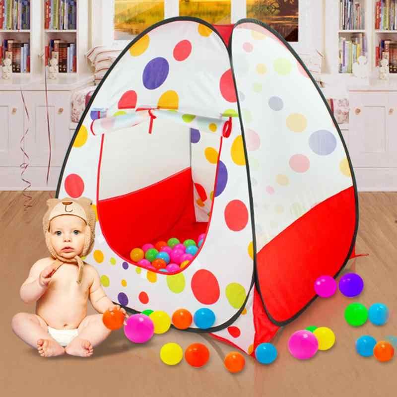 Tenda Anak Bola Kolam Renang Playhouses untuk Bayi Anak-anak Bermain Inflatable Kolam Renang Dilipat Portable Anak Luar Ruangan Permainan Di Bermain Tenda untuk Anak-anak