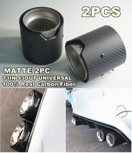 2pieces/lot 73MM INLET OD 93MM OUT Matte Real Carbon Fiber Exhaust tip For BMW M Performance exhaust pipe X5M X6M