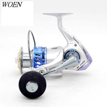 WOEN MF5500 All metal Seawater prevention Spinning wheel 13BB Slow shake Sea fishing wheel Speed ratio: 4.6:1 Brake force 20KG