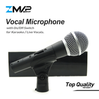 Top Quality Version SM58SK Real Transformer Professional Live Vocals Karaoke Wired Microphone 58S Podcast Mic with On/Off Switch
