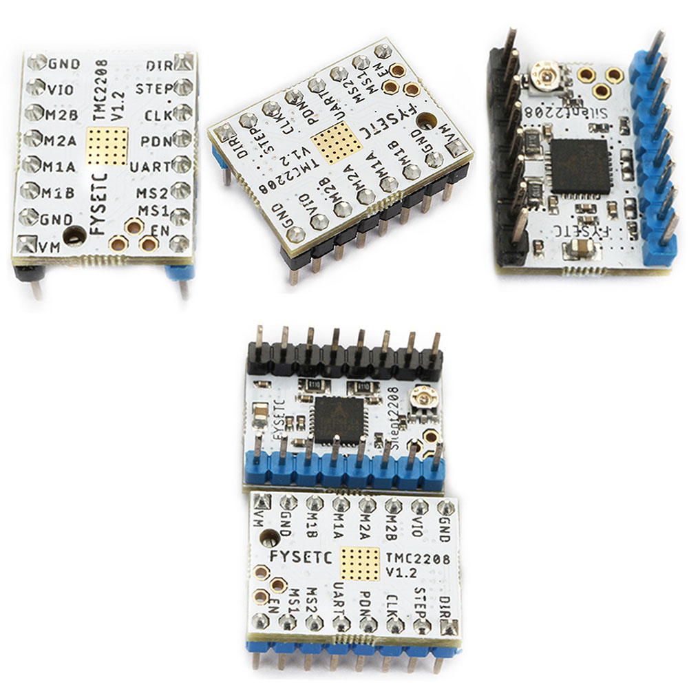 5pcs TMC2208 V1.2 Ramps Mainboard Parts 3D Printer Stability Controller Boards Protection Stepper Heat Sink Motor Driver