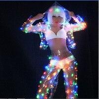 women clothes led light jacket party dance led costumes suit