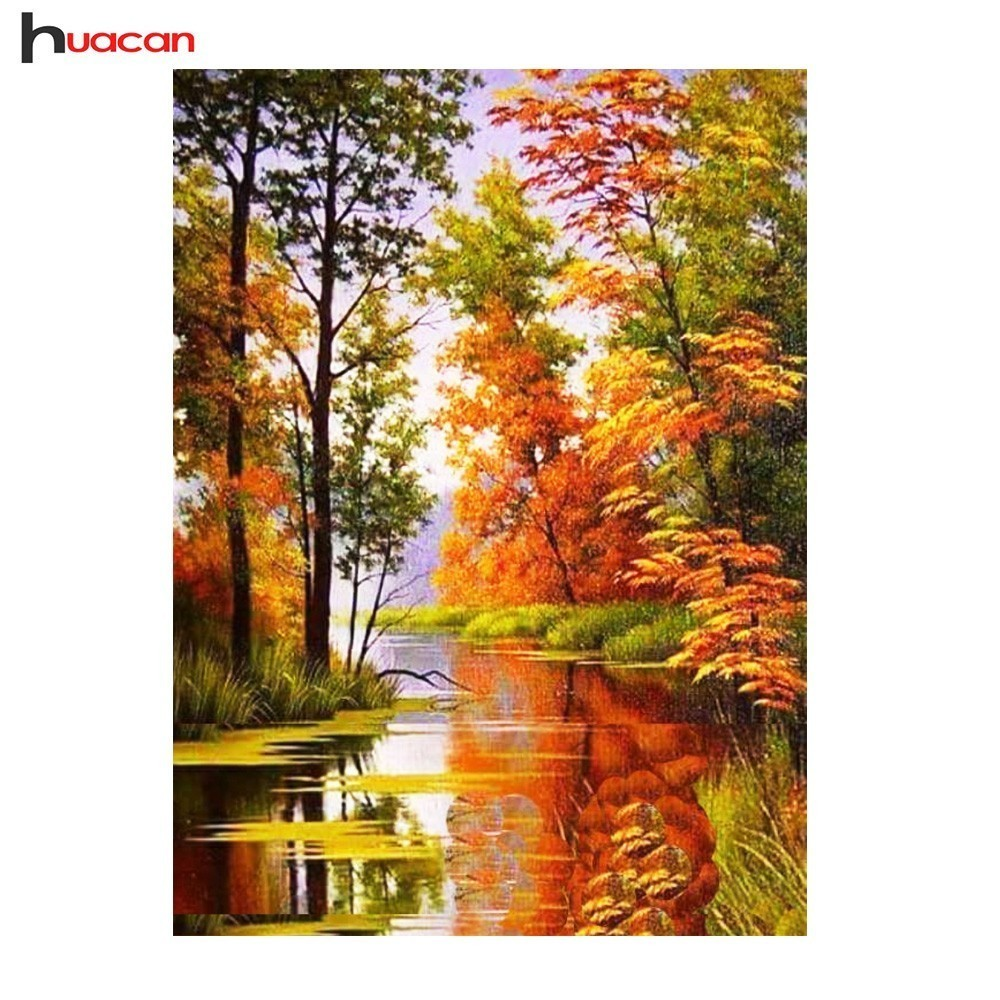 Diamond Painting Full Square Diamond Mosaic Landscape Resin Drill 5D Diamond Embroidery Sale Autumn Scenery Factory DirectDiamond Painting Full Square Diamond Mosaic Landscape Resin Drill 5D Diamond Embroidery Sale Autumn Scenery Factory Direct
