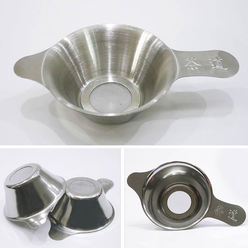 1 قطعة قابلة لإعادة الاستخدام الفولاذ المقاوم للصدأ الشاي تصفية التحلل غرامة شبكة الشاي ورقة قمع مصفاة شاي اكسسوارات