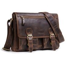 100% Top Genuine Leather Bag Business Men Bags Laptop Tote Briefcases Crossbody Bags Shoulder Handbag Men's Messenger Bag 2019