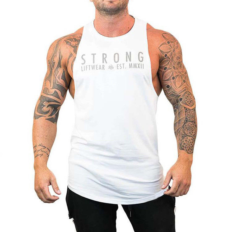 gym vest   tank     top   fitness clothing men Fitness   Tank     Tops   Bodybuilding Muscle   Tops   Vests Loose gym clothing