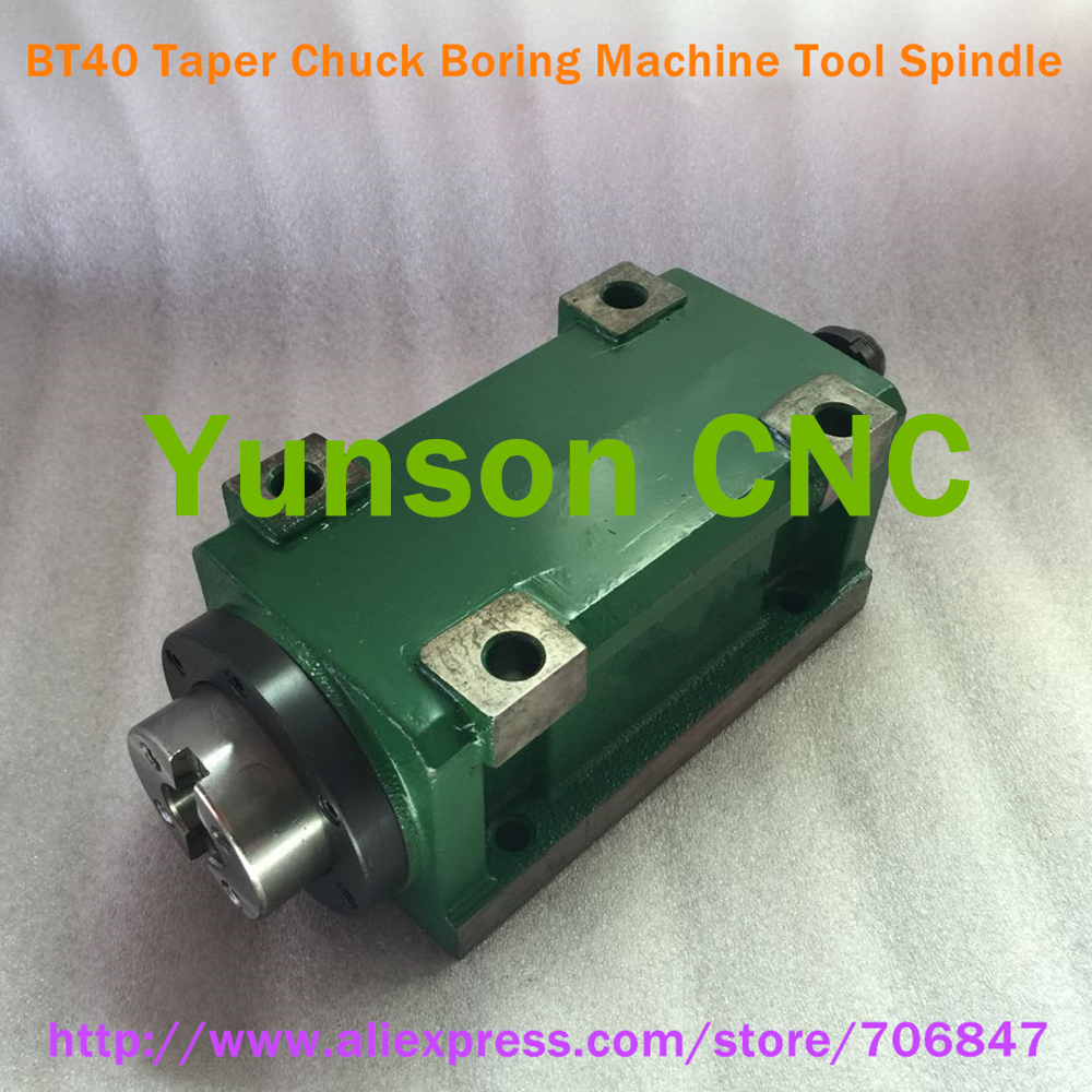 BT40 Taper Chuck 3000W 3KW 4hp Power Head Power Unit Machine Tool Spindle 3000RPM for CNC Cutting/Boring/Milling machine-in Machine Tool Spindle from Tools