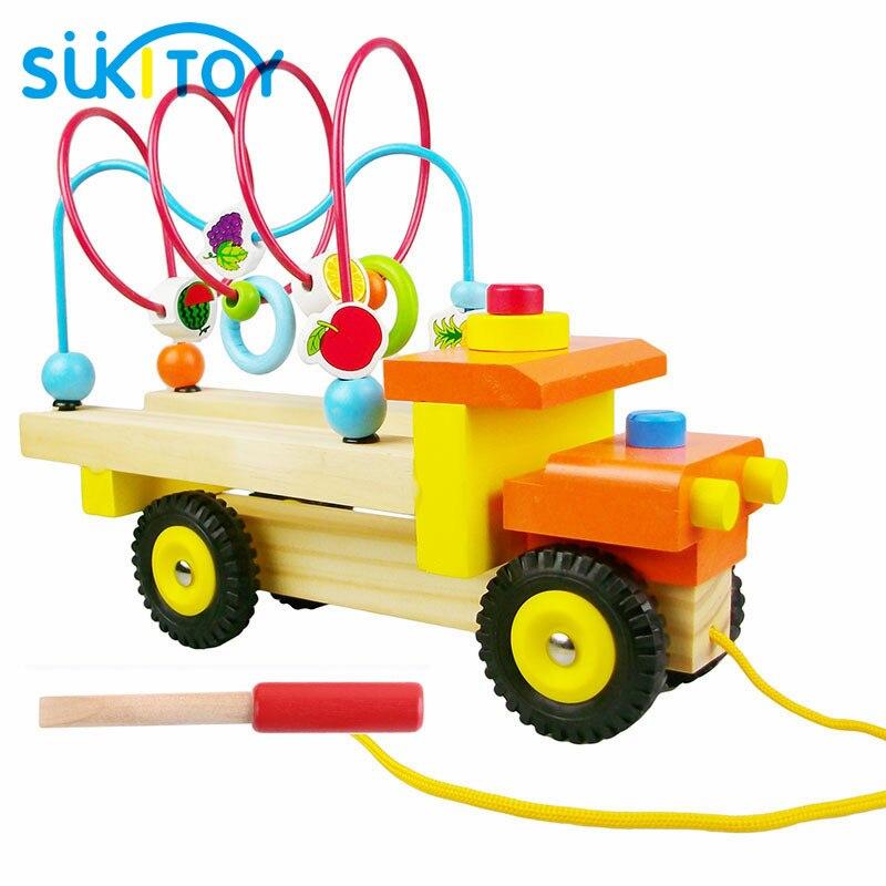 Jouets en bois classiques pour enfants labyrinthe de fruits jouets de camion doux Montessori enfants jouet interactif créatif intelligent SK028