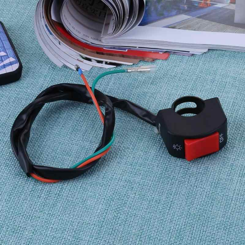 1pc 12V 7/8in Motorcycle Handlebar On/Off Switch for LED Headlight Fog Head Lamp Eye Light Car Styling Switch