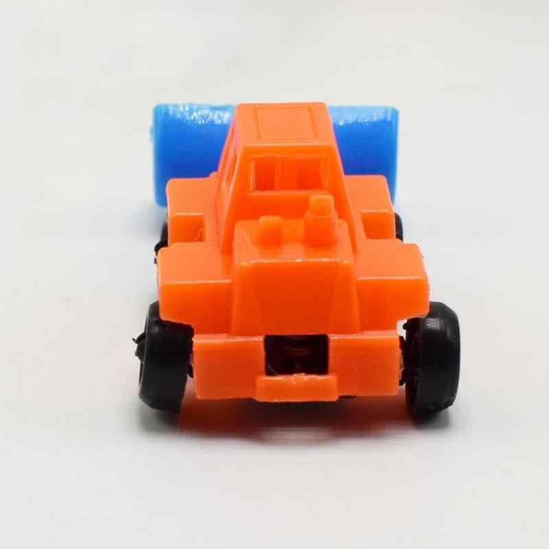 1 PC Mini Teknik Traktor Mobil Mainan Anak-anak Dump Truck Kendaraan Model Mainan Anak Laki-laki Hadiah Ulang Tahun Mengatur Acak Anak Simulasi mobil