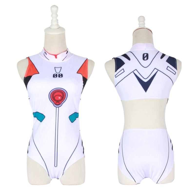 Evangelion EVA Cosplay Swimwear Backless Swimsuit SUKUMIZU Asuka//AYANAMI//Mari#51