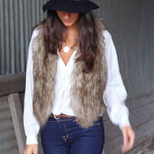 2018 Brand New Fashion Top Women Faux Fur Waistcoat Gilet Jacket Coat Sleeveless Casual Solid Outwear Fashion Vest(China)