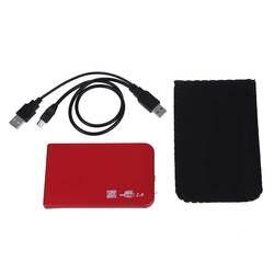 """2,5 """"внешний карман USB 2,0 жесткий красный"""