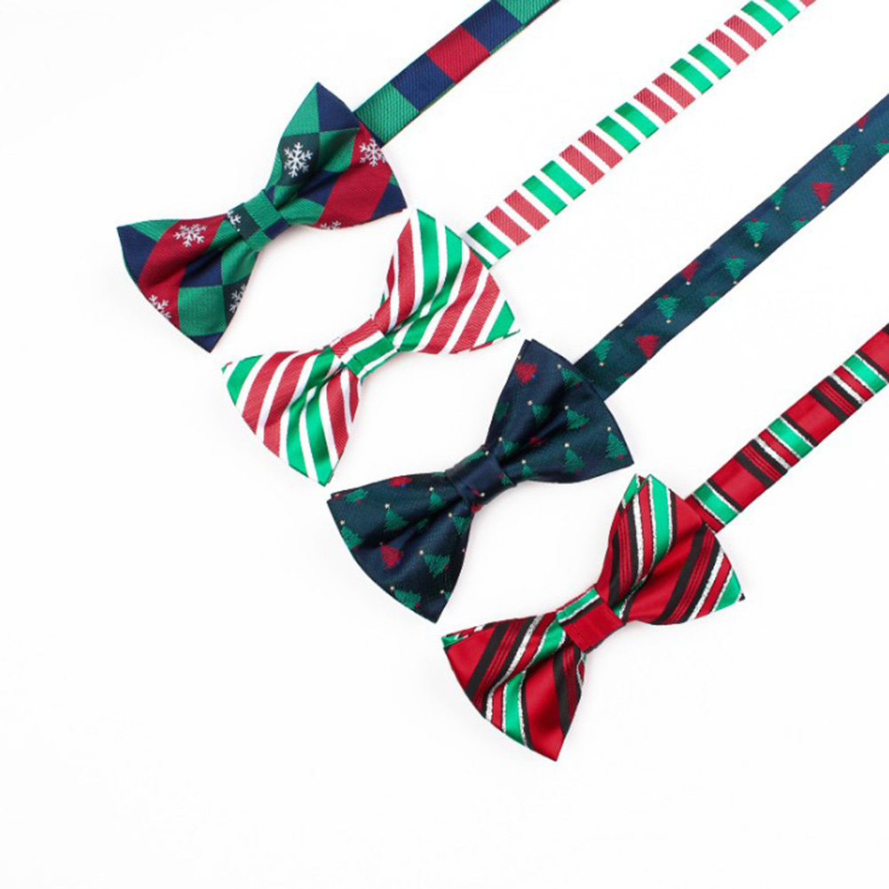 1Pc Men Christmas Tie Adjustable Wedding Cravat Fashion Printed Print High Quality Casual Bowknot Men Boys Hot Sale Bow Tie