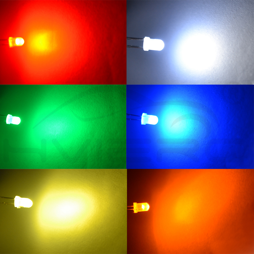 500Pcs Led Diffused F5 5Mm Yellow Color Yellow Light Super Bright Bulb Lamp N it