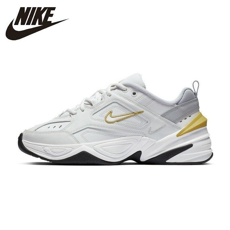 Nike M2K TEKNO Mulher Running Shoes Original Respirável Anti-slip Tênis AO3108