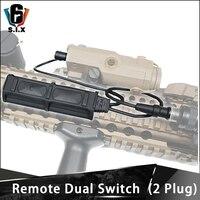 Element Softair Tactical Remote Dual 2 Plug Pressure PEQ Switch Flashlight Button For M600 M300 M300V M600V Dbal A2 M720V PEQ