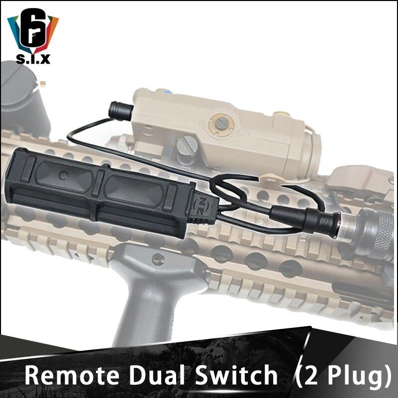 remoto tatico softair duplo 2 plug pressao peq interruptor lanterna botao para m600 m300 m300v m600v