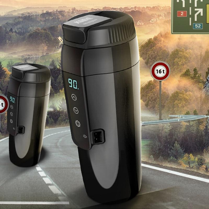 12 В 350 мл Автомобильная электроника, автомобильная нагревательная чашка, электрическая кружка с подогревом, водонагреватель для кипячения, автомобильный чайник для путешествий, портативная Термокружка - 4