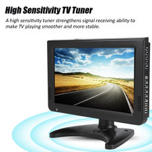 Leadstar 10 Inch TV Mobil Digital Sensitivitas Tinggi 1080 P Portable TV Analog/Digital TV/ATV untuk UK Plug(China)