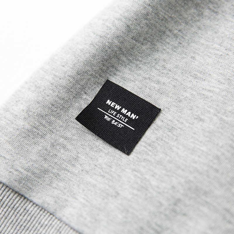 Осенняя мужская толстовка на молнии с принтом буквы армейский зеленый цвет пуловеры для мужчин Повседневная модная одежда 2018 Новая мужская одежда топы 314