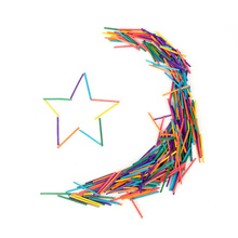 1000pcs Children Colorful Matchsticks  for Models and Sculpture Arts Crafts DIY toys Wooden stick (Multicolor)