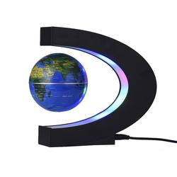 C-shaped Globe Led Night Light Table Atmosphere Night Lamp Magnetic Suspension Globe Gift Ornaments Home Desk Decoration