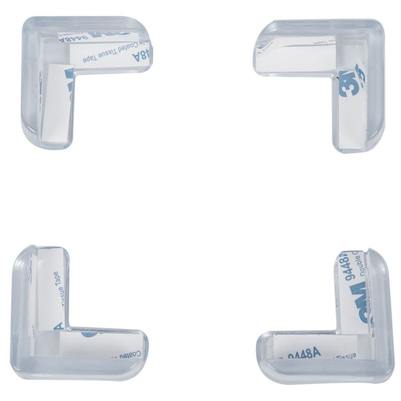 4 Pieces Clear Safety Soft Plastic Table Desk Corner Guard Protector