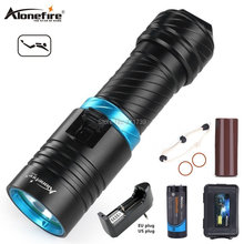 Alonefire DV30 2000LM Cree XM-L2 LED Diving Flashlight Torch 100M Underwater Waterproof Scuba Lantern + 26650 Battery + Charger 50w 5 xm l2 led scuba diving flashlight underwater 80 m flash light torch diver portable lantern 18650 26650 battery charger