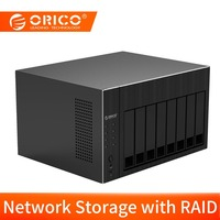ORICO Hard Drive Enclosure With Raid 2.5 / 3.5inch 8 Bay Network Attached Storage With 12TB Single Disk HDD Docking Station