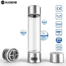 Augienb 4/10 минут электролиза воды угольный фильтр богатые водородом бутылка для воды lonizer зарядка через usb очиститель воды