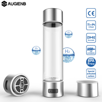 Augienb 4/10mins Electrolysis Water Activated Carbon Filter Rich Hydrogen Water Bottle lonizer USB Charging water Purifier