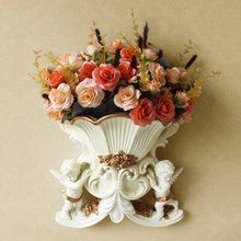 Resin art Vases Home decorative European Style Creative hanging Wall Vase wedding home decoration Living Room Table Flower