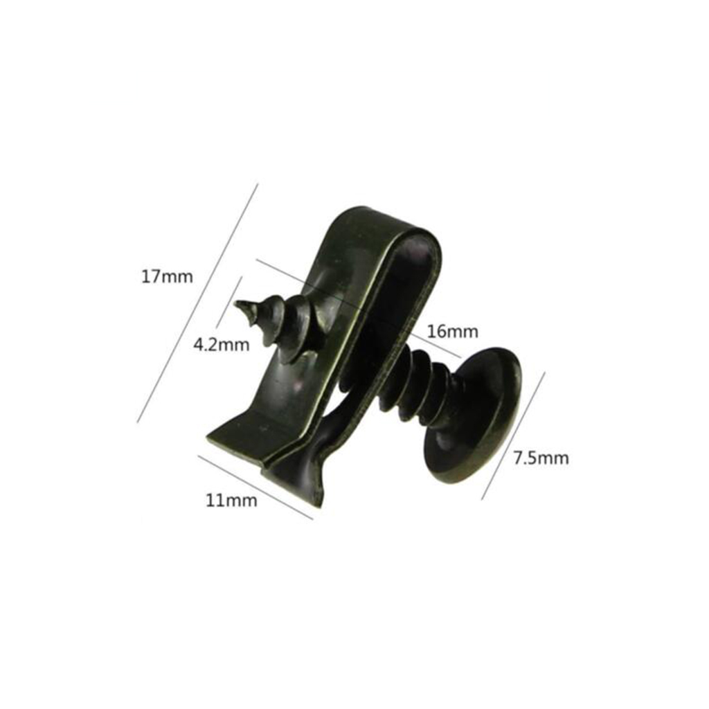 Black Iron Fastener U-Type Clips And Screws Retainers Rivets For Car Bumper