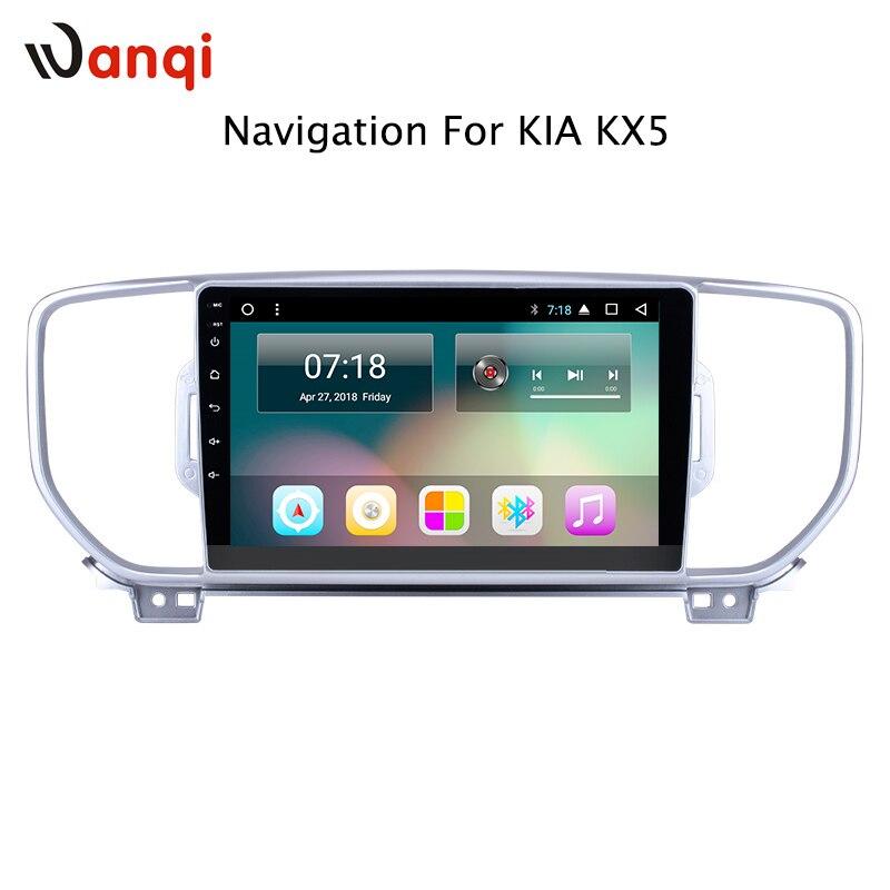 9 pollice Android 8.1 lettore dvd dell'automobile per KIA sportage 2016 2017 2018 KX5 gps di navigazione stereo di gps di wifi di sostegno SWC