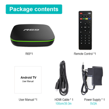Multilingual Android Smart TV Box with Remote Control